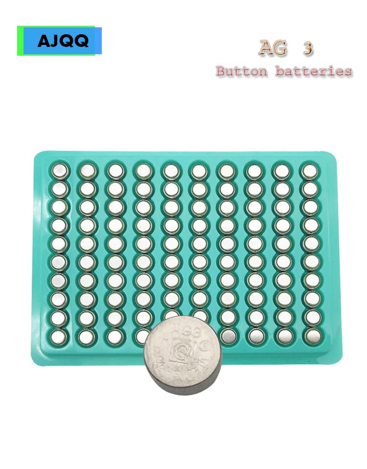Wholesale 100PCS LR41 AG3 SR41W 392192 GP192A LR736 Button Battery For Flashlights, Toys, Watches