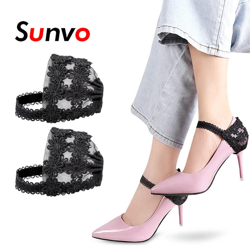 Sunvo Frauen Schnürsenkel für High Heels Anti Fallen Abdeckungen Elastische Schuhe Spitze Ferse Keine Krawatte Schnürsenkel Befestigung Riemen Schuh zubehör Pad