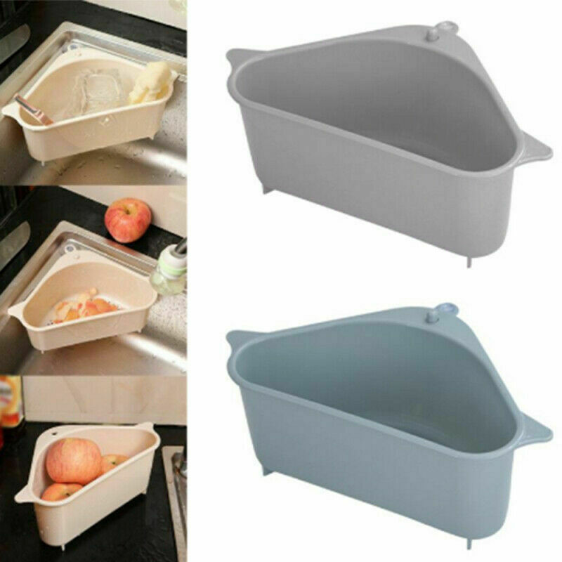Triangular cocina fregadero estante escurridor baño soporte de almacenamiento colgante cesta