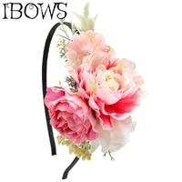 girls headmade flower headband diy hairband for kid hair hoop headdress hair accessories princess photography props