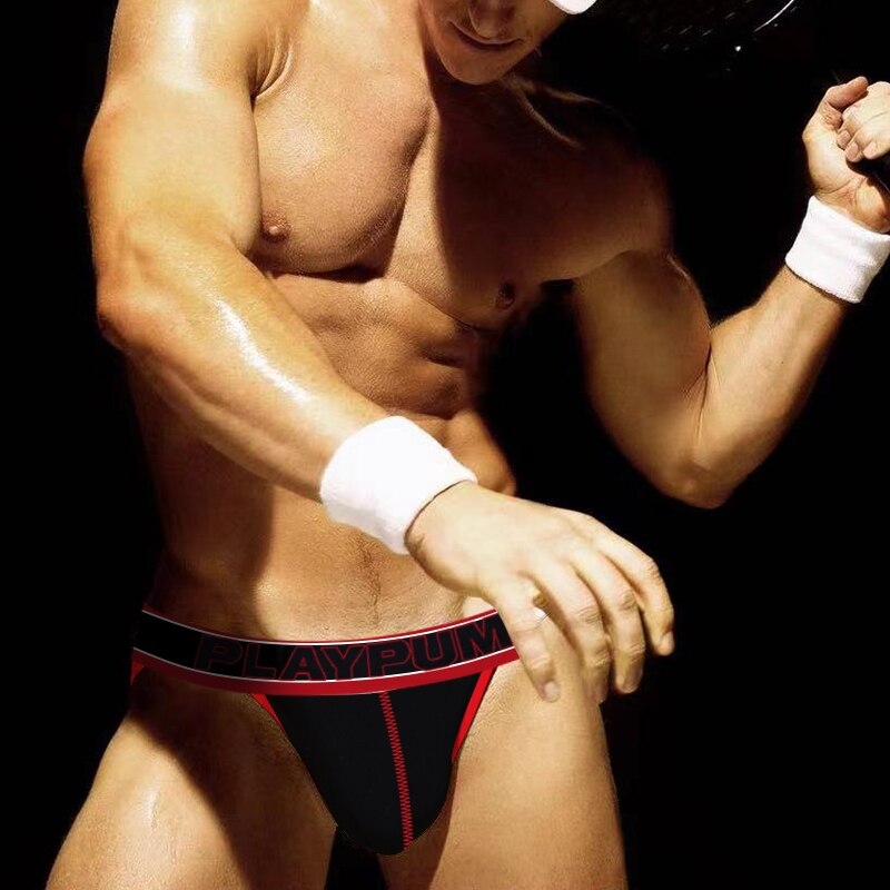 New Side Cut Men Briefs Sexy Underwear Man Cotton Soft Breathable Mesh Underpants Male Low Waist U C