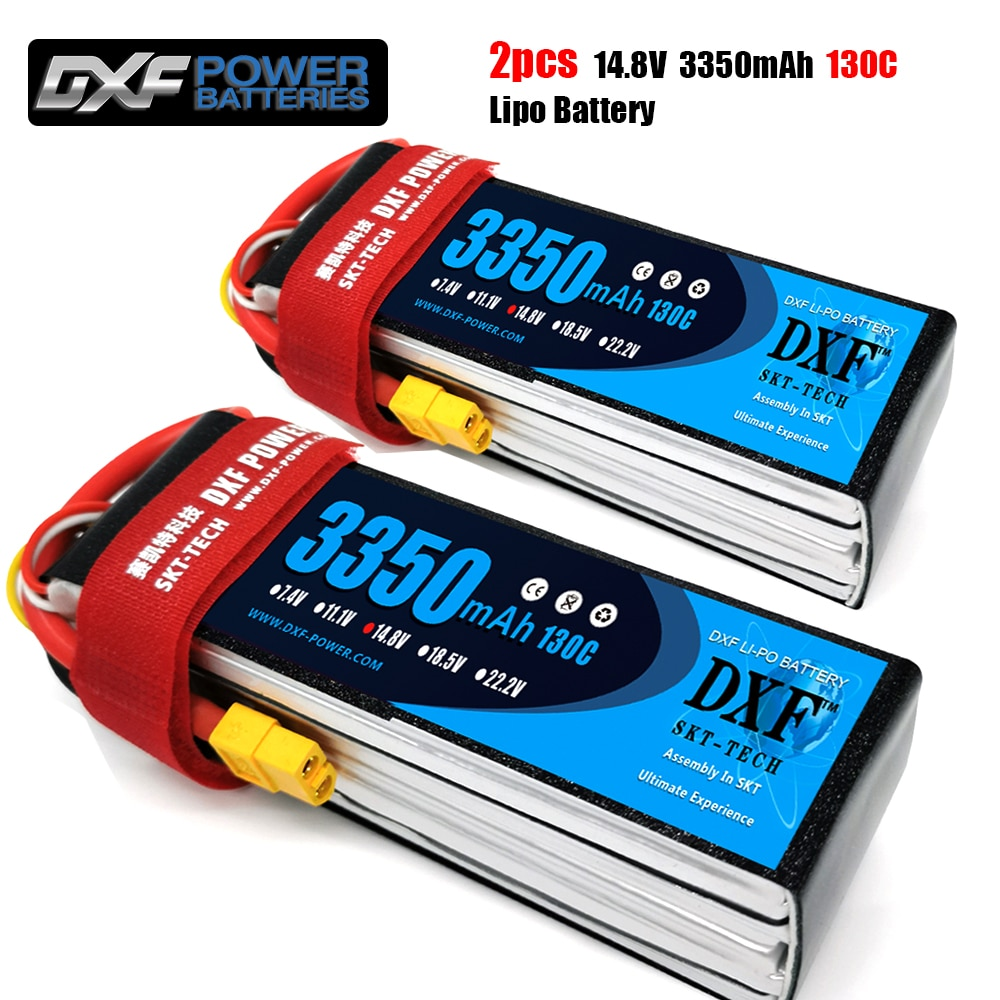 2PCS DXF Lipo Battery 2S 3S 4S 6S 7.4V 11.1V 14.8V 22.2V 3350mAh 130C 260C for 1:10 RC Cars Boat Truck Buggy helicopter Drone enlarge