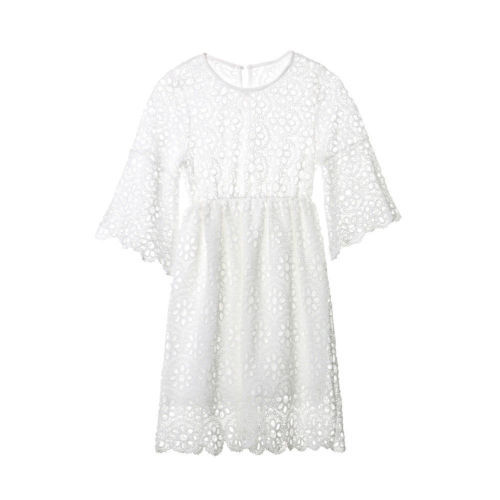 Family Matching Clothes Mother Daughter Dresses Women Floral Lace Dress Baby Girl Mini Dress Mom Baby Girl Party Clothes 10