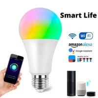 E27 RGBCW WiFi lumiere intelligente Alexa echo commande vocale LED ampoule intelligente maison ampoule de synchronisation travail avec Google Assistant IFTTT