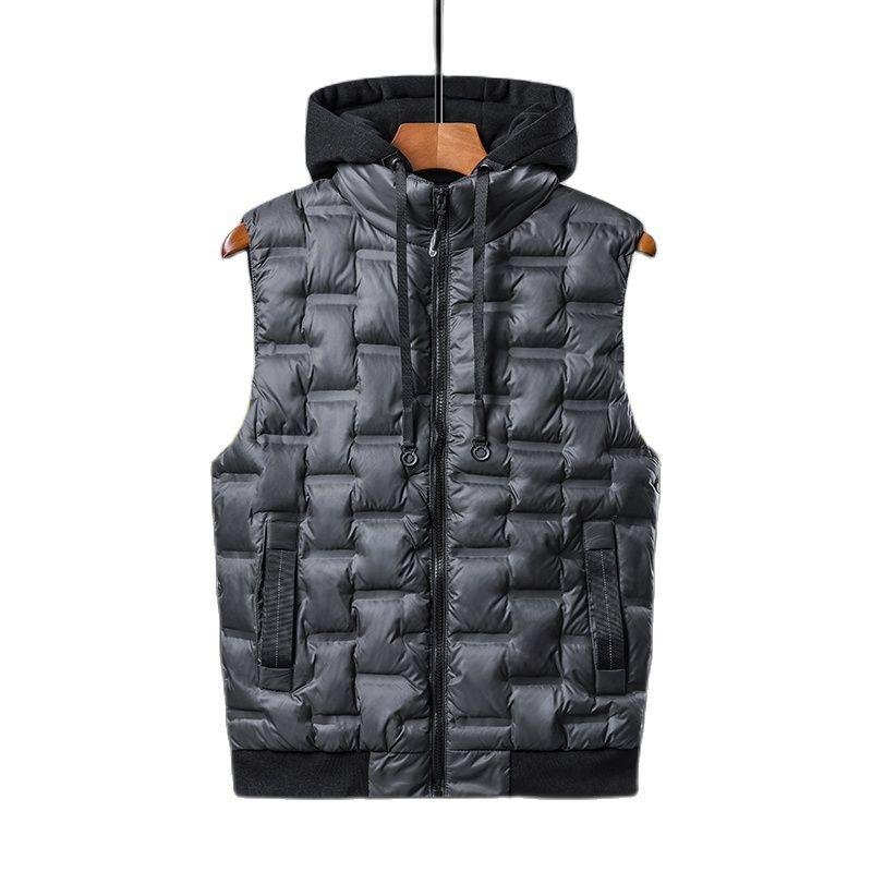Канадская Мужская зимняя пуховая куртка, новинка, мужская повседневная пуховая куртка, жилет, теплая куртка большого размера с капюшоном тр...