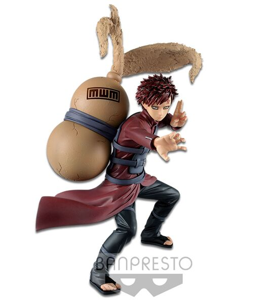Original BANPRESTO NARUTO figura vibración estrellas Gaara shinobi modelo de juguete
