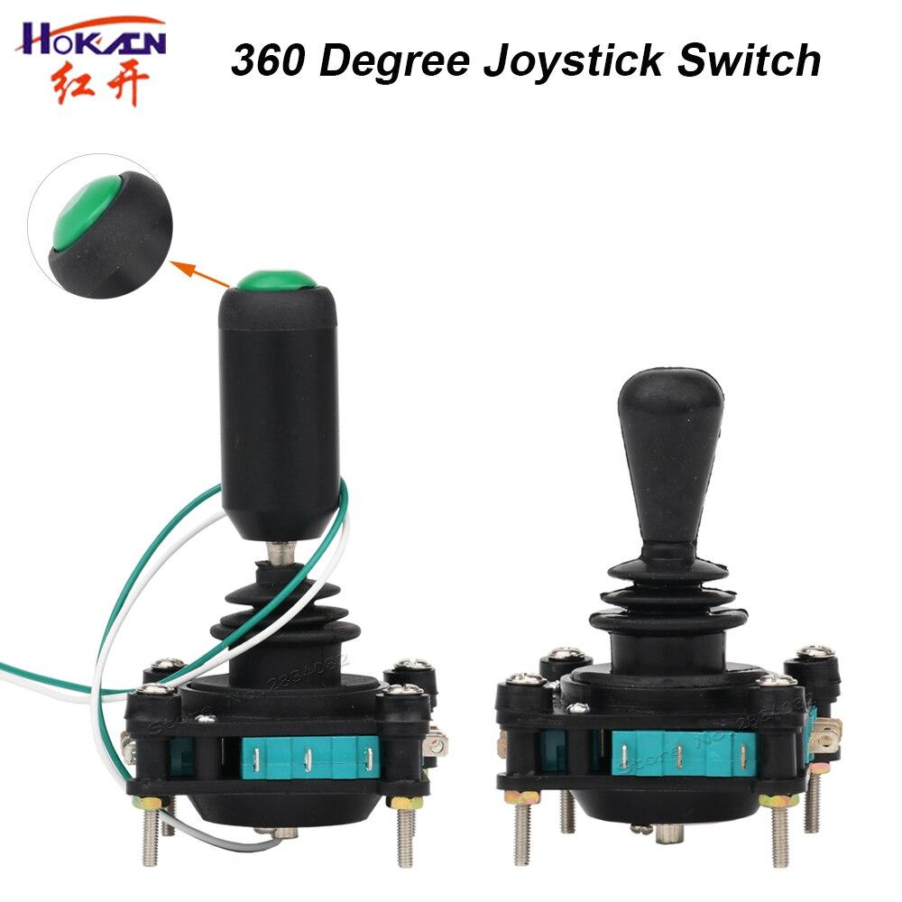 Interruptor de manche de 360 graus com interruptor de botão momentâneo 2/4 posição 4no4nc SCV4-YQ-05R2G cruz monolever