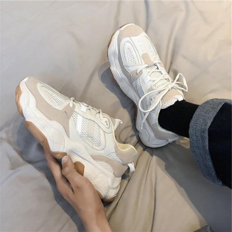 SHUJIN сезон осень Повседневная обувь мужские кроссовки Вулканизированная дышащая