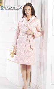 NWT Luxury 100% Pure 19MM Silk Women Sleepwear Kimono Robe With Filler Size M L XL