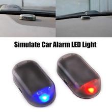 Universal Car Solar Energy Warning light LED Flash Light Car Power Alarm Lamp Security Warning Anti-
