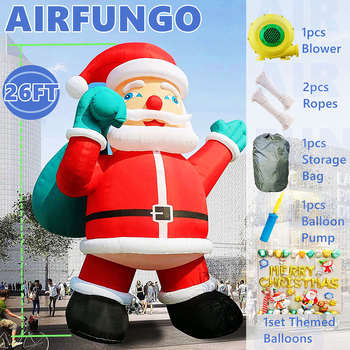 26ft Giant Inflatable Santa for Christmas Yard Decoration Outdoor Yard Lawn Xmas Party Blow Up Decorations with Blower