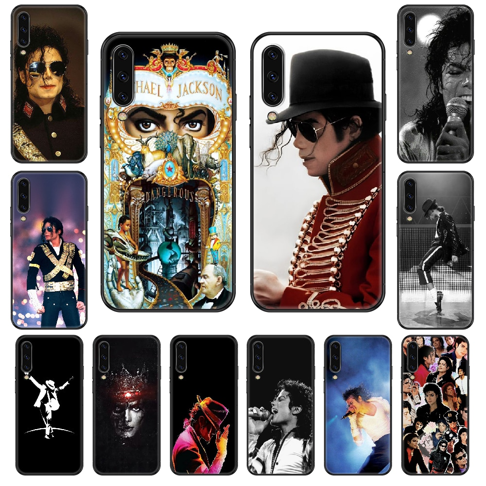 American Michael Jackson Phone case For Samsung Galaxy A 3 5 8 9 10 20 30 40 50 70 E S Plus 2016 2017 2018 2019 black fashion