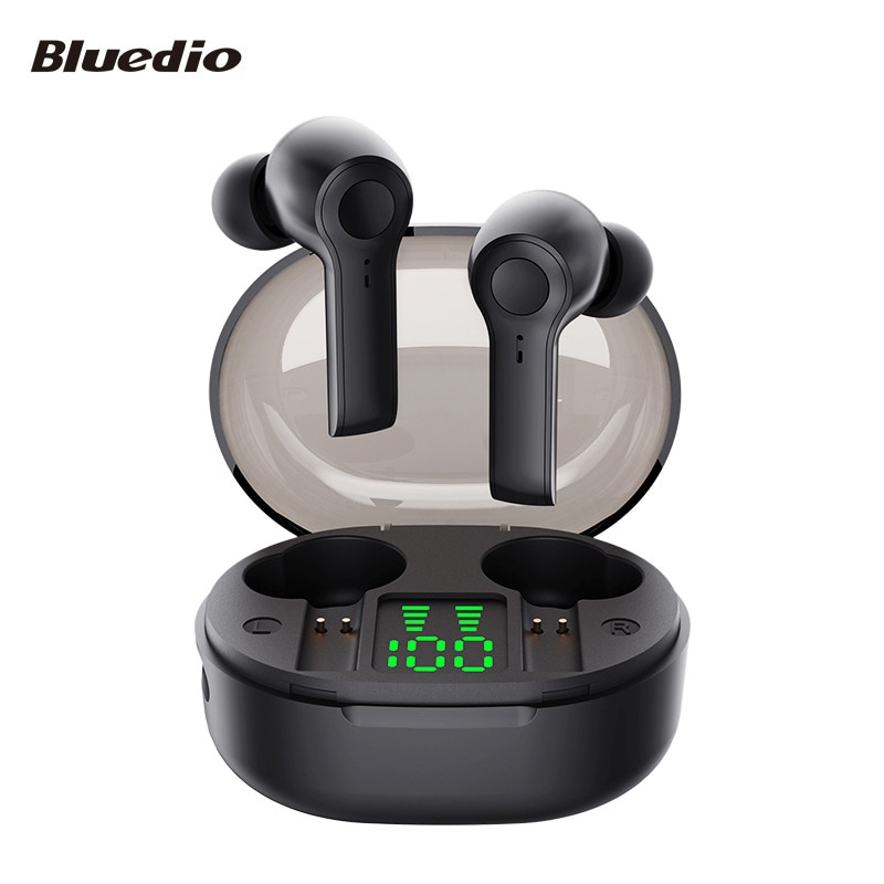 Bluedio D4 TWS Wireless Earphone Portable Earbuds Touch Control BT 5.1 In Ear Headset With Charging Case Battery Display