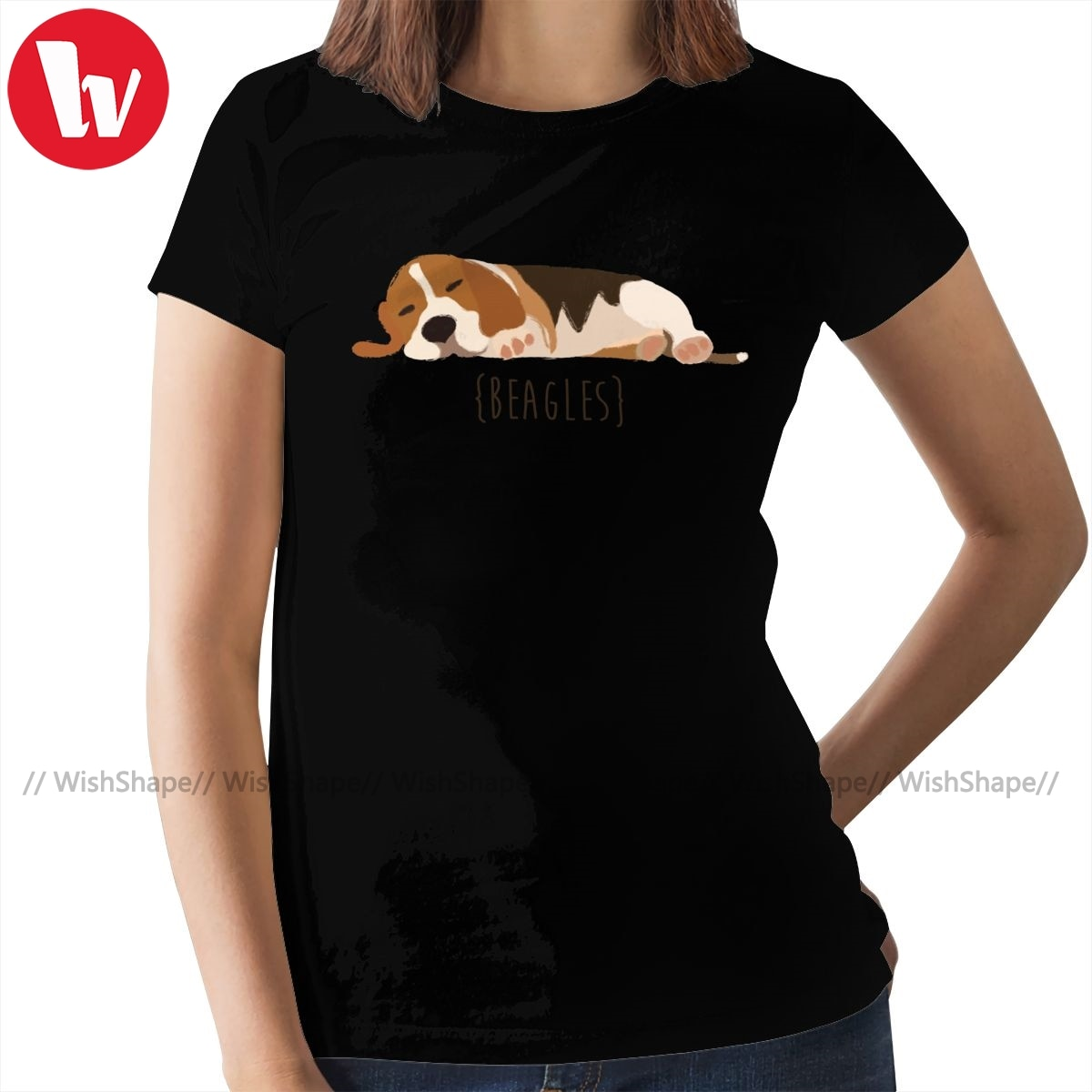 Beagle Puppy T-Shirt Beagles T Shirt Short-Sleeve 100 Cotton Women tshirt Large Size Simple Ladies Tee Shirt