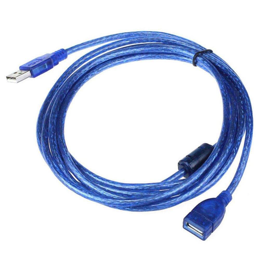 USB2.0 УДЛИНИТЕЛЬ для мужчин и женщин кабели для передачи данных USB 2,0 кабель для ПК клавиатура принтер камера мышь игровой контроллер