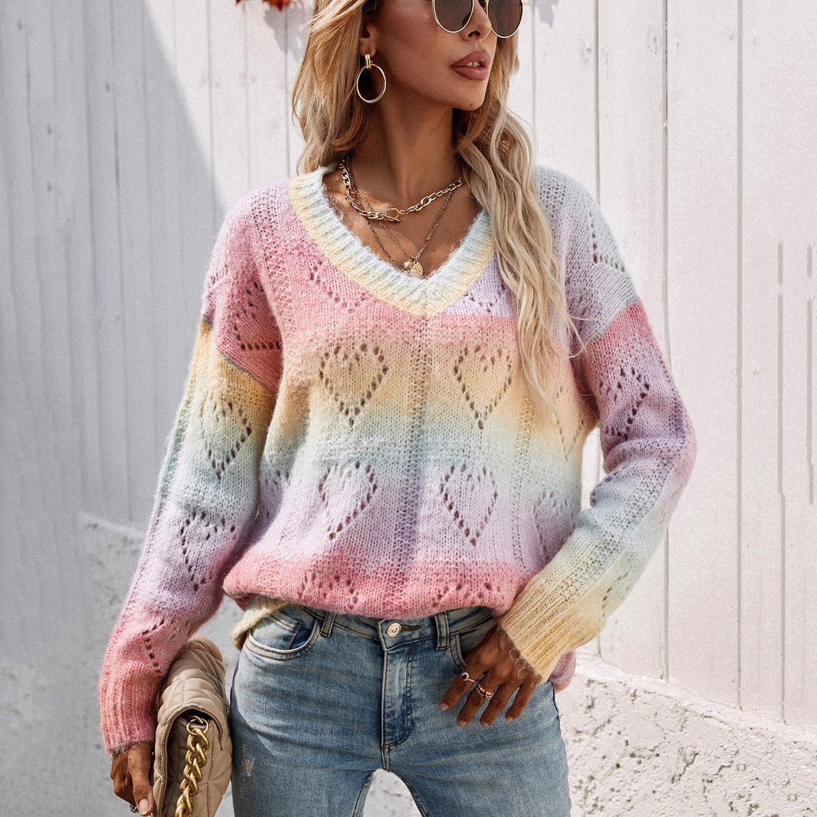 ульмер бабетте вяжем спицами свитера пуловеры джемперы модели на любой вкус Размера плюс свободные свитера, женские повседневные свободные вязаные пуловеры с вырезами, свитшоты, джемперы, пуловеры, свитера для женщи...