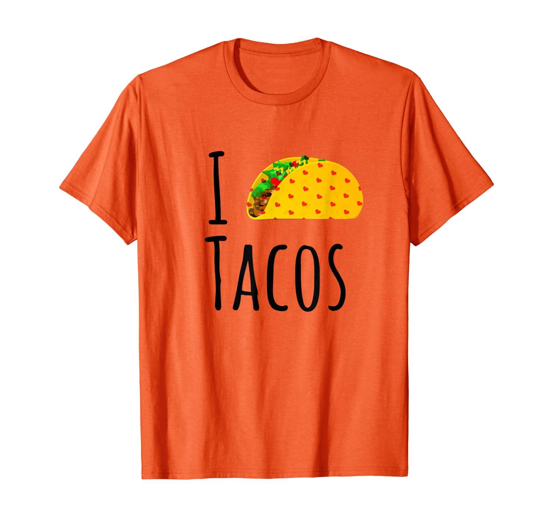 С надписью «I Love футболка Tacos, Тако любителей футболку, я сердце Тако