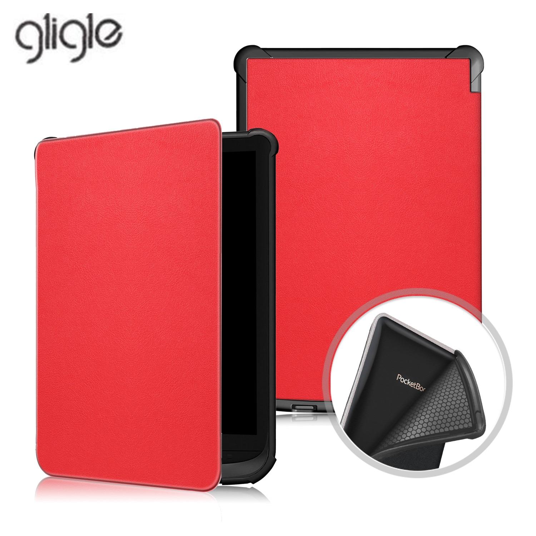 Ультратонкий чехол Gligle для Pocketbook Touch lux 4 627 HD3 632 Basic2 616 Ereader + пленка для экрана