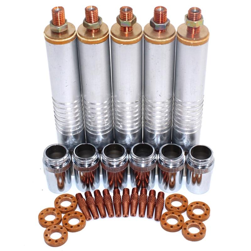 Piezas de máquina de soldadura Nbc200, cabezal de antorcha, tubo de tubo, puntas de soldadura, protector de tazas, anillo de Gas para Mig Mag, máquina de soldadura Nbc