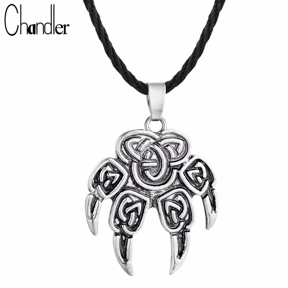 Чандлер лапа, славянский медвежонок, отпечаток когтя, подвеска Льюис, ожерелье, антикварный колар один, символ, скандинаский Викинг, ювелирн...