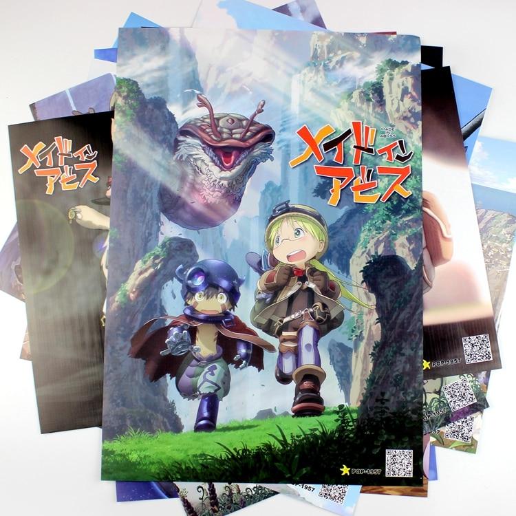 8*(42x29 cm) made in Abyss carteles Anime carteles pegatinas de pared