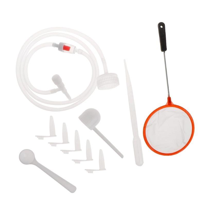 1 Set camarones de salmuera incubadora DIY para incubar herramientas acuario incubar sistema tapa para válvula pala con Red Kit manguera profesional Simple A69D