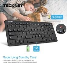 TeckNet Ultra Slim 2.4GHz Cordless Keyboard Wireless Whisper-Quiet UK Keyboard For Windows10/8/7/Vista UK Layout Keyboard Design