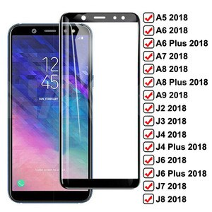 Защитное стекло 9D для Samsung Galaxy A6 A8 J4 J6 Plus 2018, защита экрана A5 A7 A9 J2 J3 J7 J8 2018, пленка из закаленного стекла, чехол