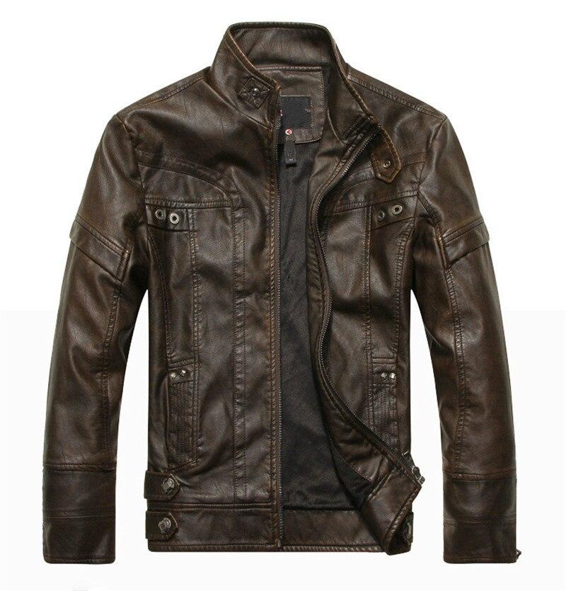 Осенняя мужская кожаная мотоциклетная куртка, Мужская кожаная куртка, мужские кожаные куртки, пальто