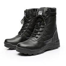 Hommes bottes tactiques armée bottes hommes militaire désert imperméable chaussures de travail fermeture éclair bout rond chaussures cheville hommes bottes de plein air 37-46