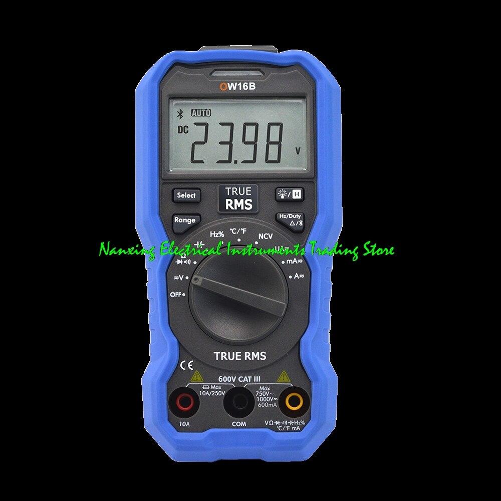 Llegada rápida, OWON OW16A 3 5/6 dígitos, multímetro Digital NCV de mano, multímetro OW16B con multímetro Bluetooth