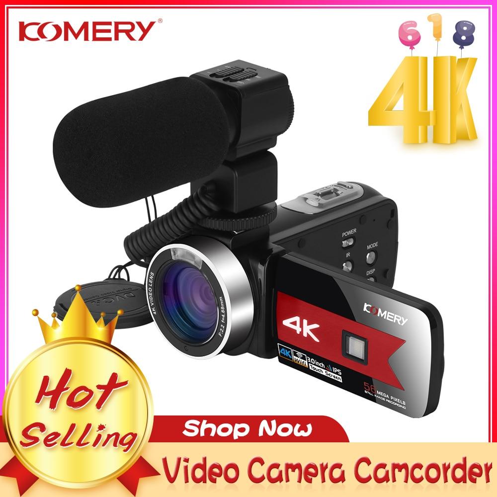 كاميرا فيديو رقمية 4K ليوتيوب بث مباشر واي فاي 56MP الجمال شاشة تعمل باللمس كاميرا تسجيل الدخول للرؤية الليلية