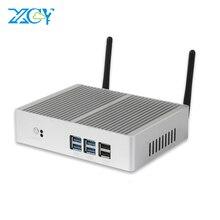 Remise Mini PC sans ventilateur Windows 10 Core i7 i3 7100U i5 7200U 4K HD Mini ordinateur DDR3L 2.40GHz HTPC WiFi HDMI VGA minipc