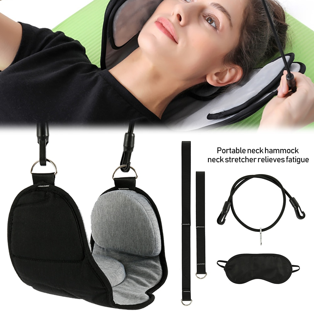 Portable s Neck Hammock Set Office Neck Rest Stretcher Relieves Travel Memory Foam Pillow + Mask Accessories Neck Hammock
