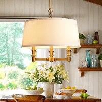 Modern Pendant lights America Art Deco copper Hanging Lamp dining room Living Room Bedroom Pendant lamps Lighting fixtures decor