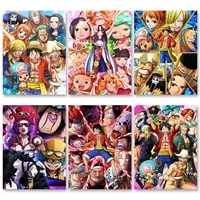 wall decor art full round drill one piece diy diamond japan anime luffy painting pictures embroidery mosaic cross stitch craft