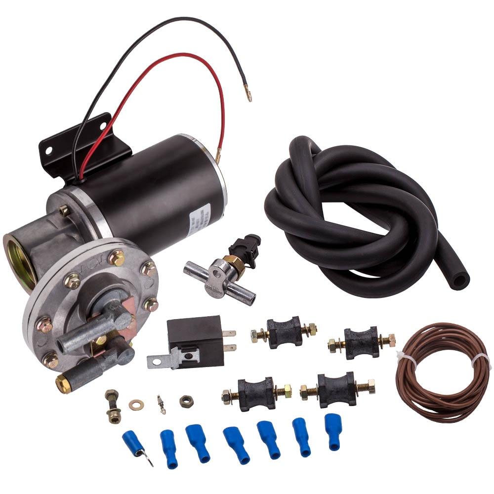 Electric Vacuum Pump Kit Hose Set for Brake Booster 12 Volt 18 to 22