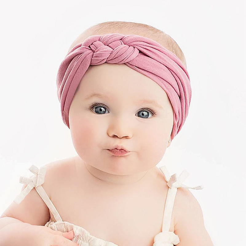 Spring Summer Soft Cotton Baby Headband for Girl Twisted Knotted Headbans Elastic Baby Girl Hairbands Baby Girl Hair Accessories