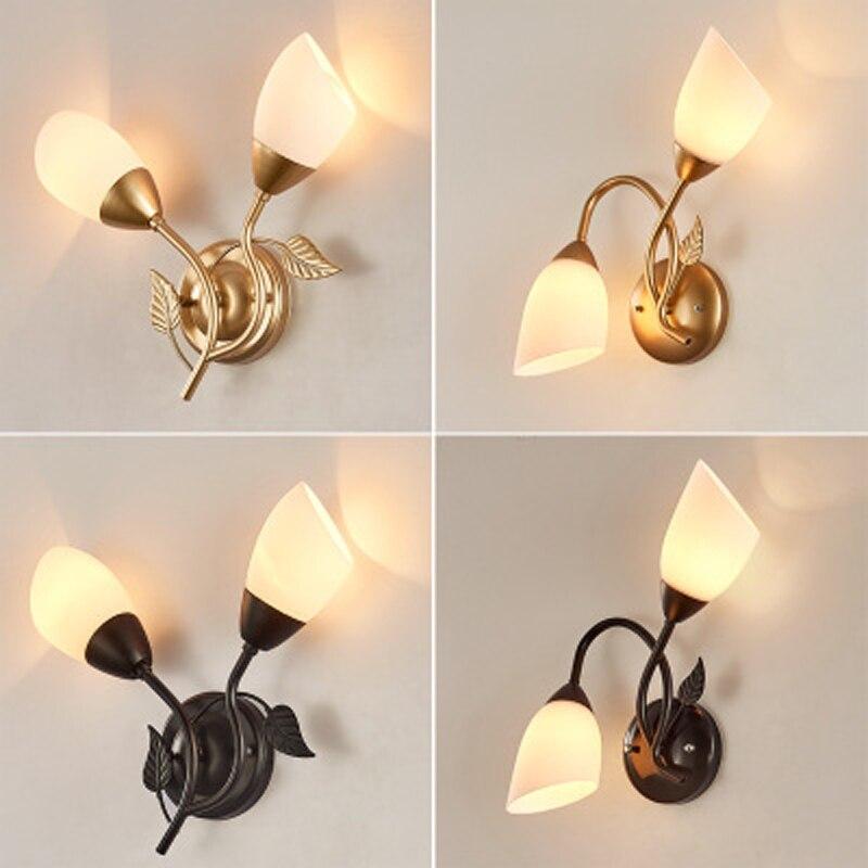 Nueva lámpara de pared para cabecera led de dormitorio nórdico, lámpara de pared dorada minimalista postmoderna para sala de estar o hotel