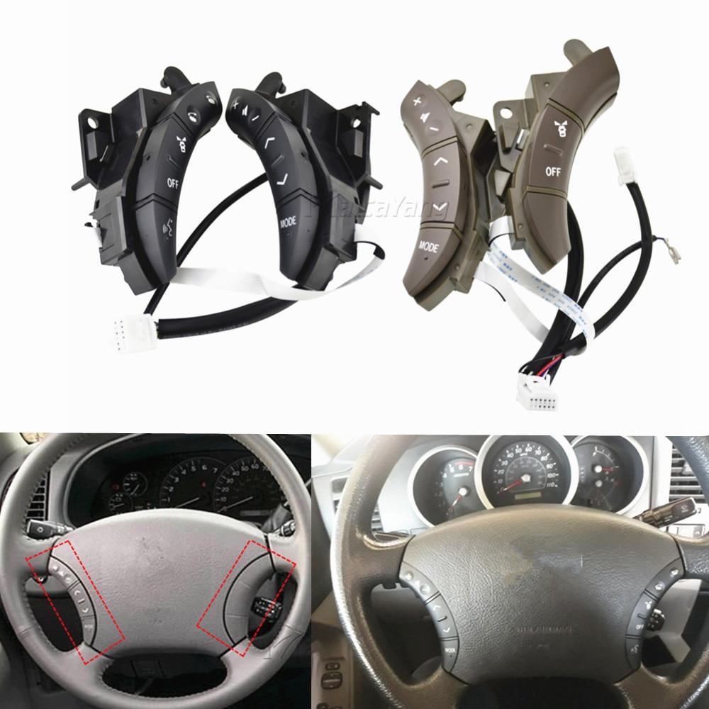 Para Toyota Highlander Land Cruiser controles de volante interruptor 75B037 Color negro gris