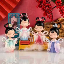 Мультяшные антикварные миниатюры в китайском стиле для девочек, украшение «сделай сам», украшение для дома, художественные украшения, пода...