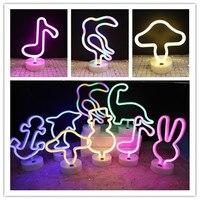Рождественский подарок светодиодный неоновый светильник кролик Снеговик гриб вывеска неоновая лампа для вечерние ринки свадьбы спальни д...