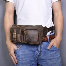 Kaliteli deri rahat moda Fanny bel kemeri çanta göğüs paketi tek kollu çanta tasarım seyahat telefonu sigara durumda erkekler için 811-10-d