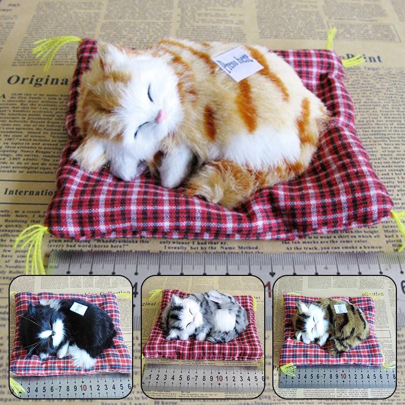 1 шт. Моделирование мягкую кошки мягкие игрушки прекрасный моделирование животных кукла, подарок на день рождения для детей, украшения для д...