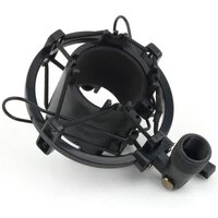 universal 3kg bearable load mic microphone shock mount clip holder stand radio studio sound recording bracket black professional