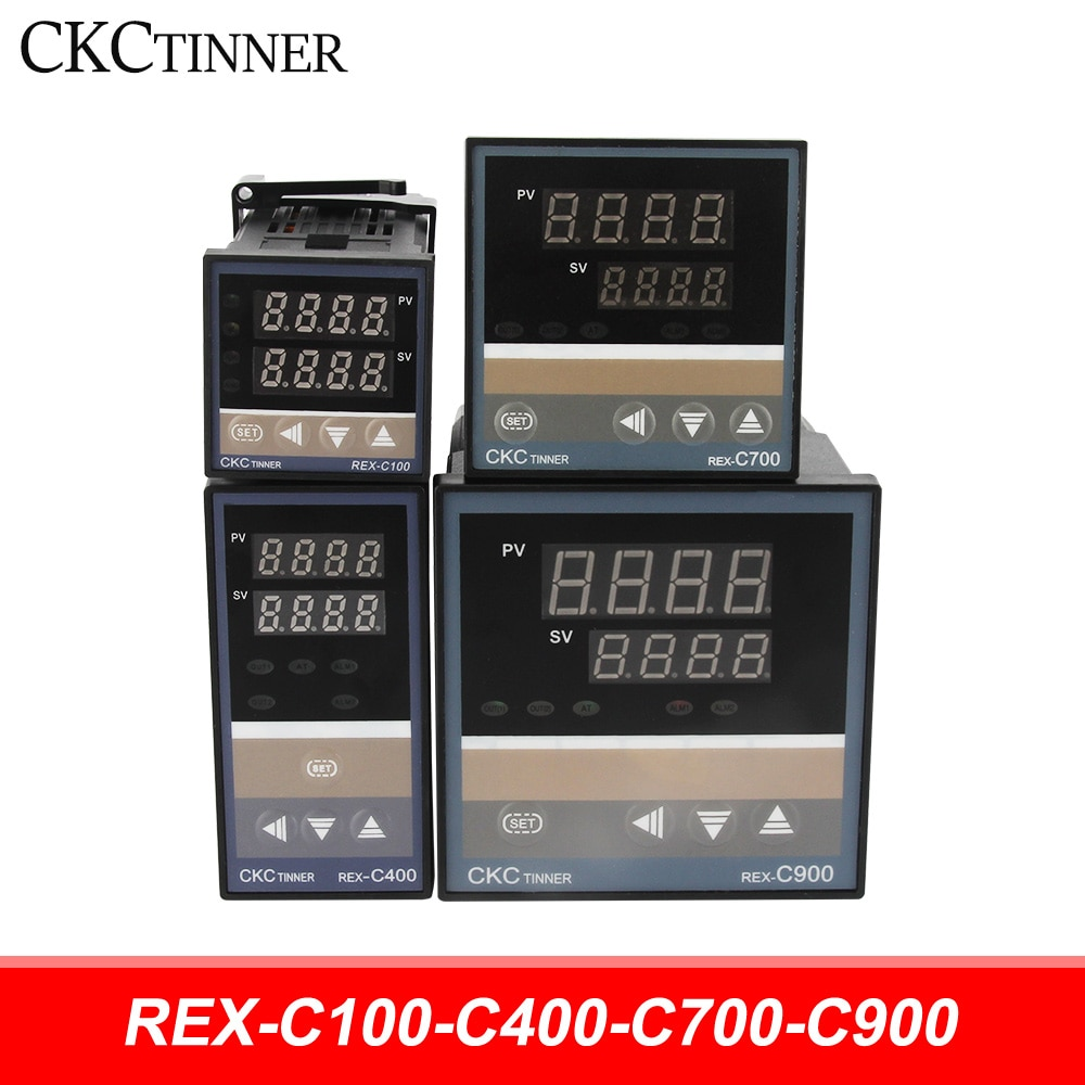 PID RKC Digital intelligent Industrial temperature controller 220V RELAY REX-C100-C400-C700-C900 Thermostat SSR Relay output rex c100 digital rkc pid thermostat temperature controller digital 40a ssr relay k thermocouple probe heat sink