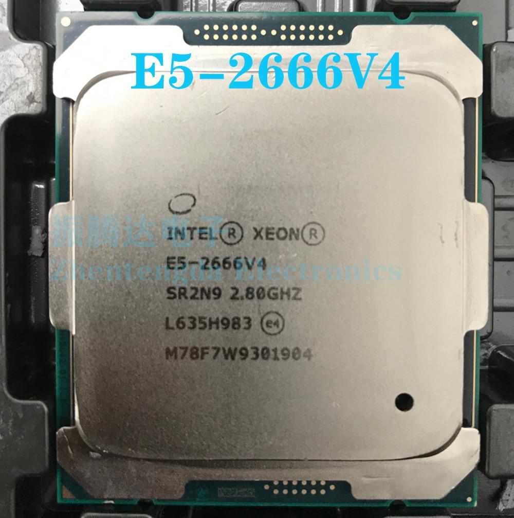 Intel Xeon E5-2666 V4 CPU 12 Core 24 Threads 2.8 GHz LGA 2011-v3 E5-2666V4 CPU Processor