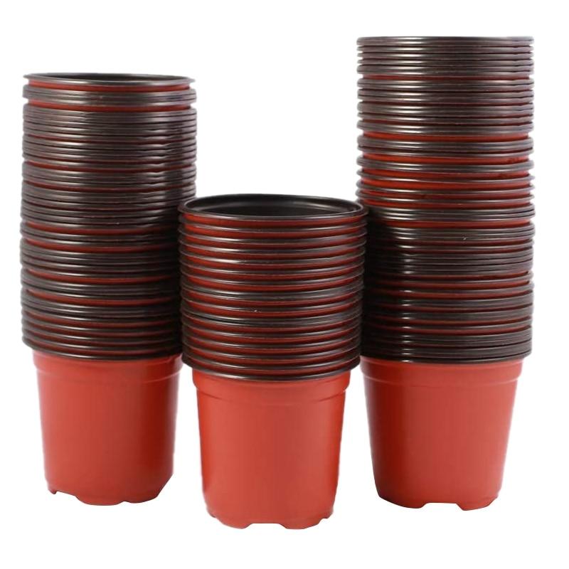 100 pces 16cm de plástico flor mudas berçário suprimentos plantador pote/potes recipientes sementes vasos de partida vasos de plantio
