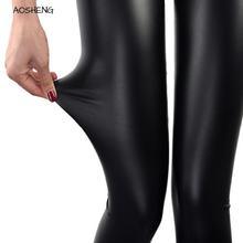 S-3XL taille haute Faux cuir 2020 femmes Sexy mince noir Leggings Calzas Mujer Leggins Leggings extensible pousser grande taille