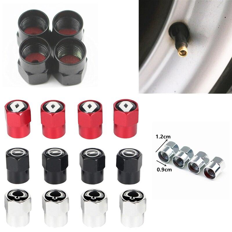 4 Uds de aluminio para válvula de rueda de coche tapas para Mitsubishis ASX Lancer Pajero Outlander L200 coche EVO Accesorios